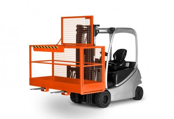 Arbeitskorb AB-200 orange_ am Stapler
